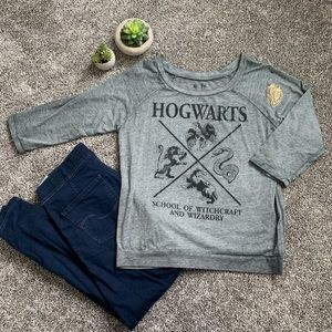 Fitted Quarter-Sleeve Tee - Harry Potter